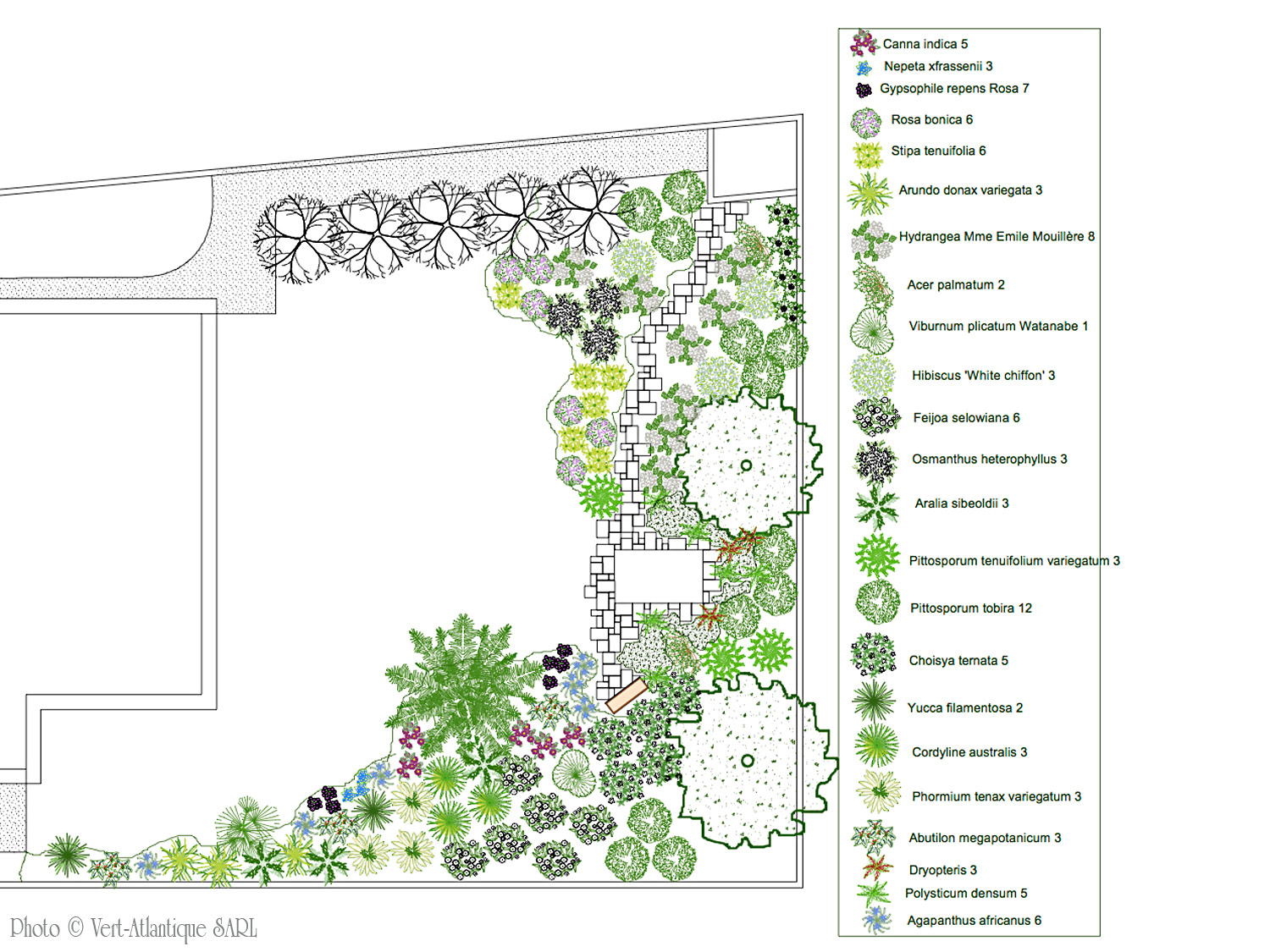 Conception de jardin vert atlantique for Conception de jardin