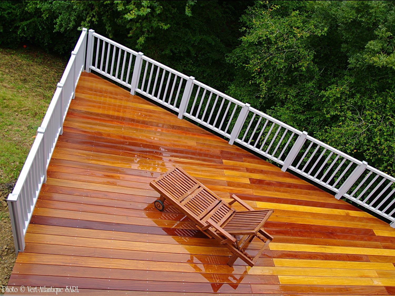 Terrasse en bois exotique, Cumaru